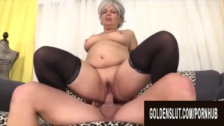Golden Slut - Mature Slut Impales Her Pussy on a Big Cock Compilation
