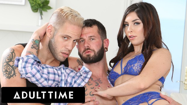 ADULT TIME - Keira Croft Shares Her Fuck-Buddy's Cock With Horny Bisexual Husband