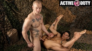 ActiveDuty - Rauchy Soldiers Flip Fuck The Fuck Out Of Each Other