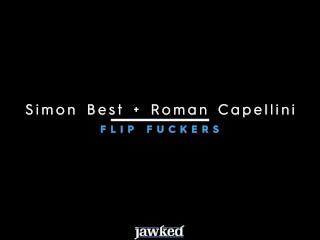 Jawked – Jocks Simon Best and Hung Roman Capellini Flip Fuck
