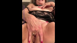Hot Mature Milf POV Fingers Her Pussy & Has Leg Shaking Wand Orgasms Before Adult Theater Visit