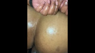 Thick blasian gets creamy pussy fucked hard by bbc