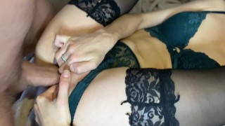 quick and wet from her squirt sex with a neighbor POV
