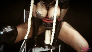 "The Kinky Latina Ebony Goddess ""Dark Dea"" in Porn Series (Bondage part 2) Fetish Queen"