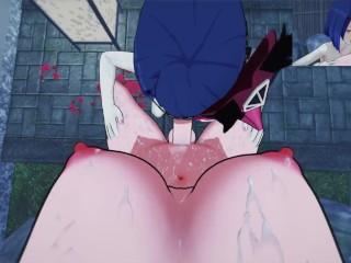 Genshin Impact you Futa Raiden Shogun POV fuck Kujou Sara