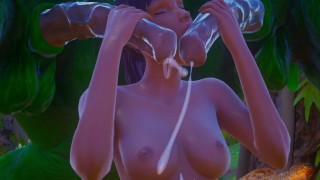Furry aliens have a double anal challenge   wild life sex