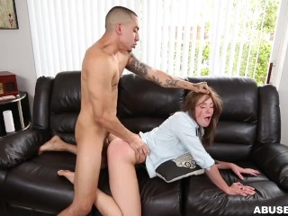 AGGRESSIVE PORN - Beautiful Brunette Kirsten Lee Fucked Rough, Takes Cock Like A Champ wwxxxcom