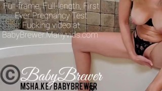 Horny Pregnant MILF Fucks Her Positive Pregnancy Test and Finds Out She's KNOCKED UP! (Teaser Vid)