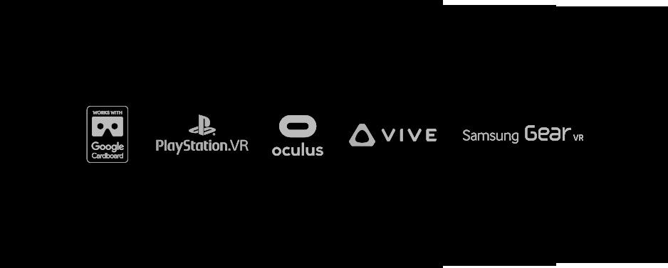 Virtual reality various logos